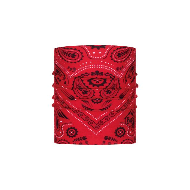 Buff Bandana for Dogs in Red Paisley Print