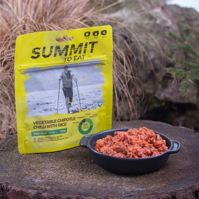 Summit To Eat Vegetable Chipotle Chilli With Rice Camping Food