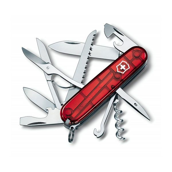 Victorinox Huntsman Knife - Jelly Red