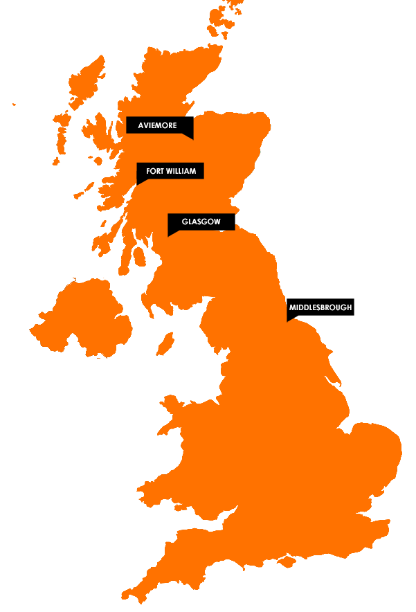 Nevisport Ski Boot Fitting Service Locations - Aviemore, Fort William, Glasgow and Middlesbrough