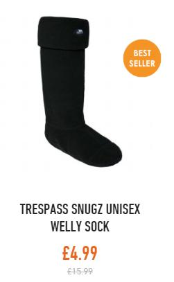 Trespass snugz welly sock
