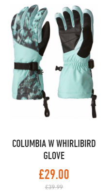 columbia womens whirlibird gloves