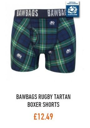 Bawbags Official Scotland Rugby Boxer