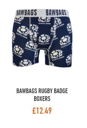 Bawbags Scottish Rugby Badge Logo Boxers