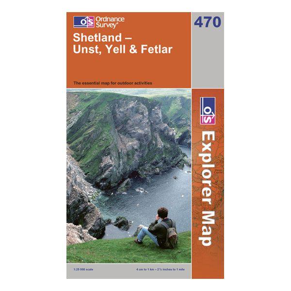 Ordnance Survey 470 Shetland - Unst  YellandFetlar Explorer Map