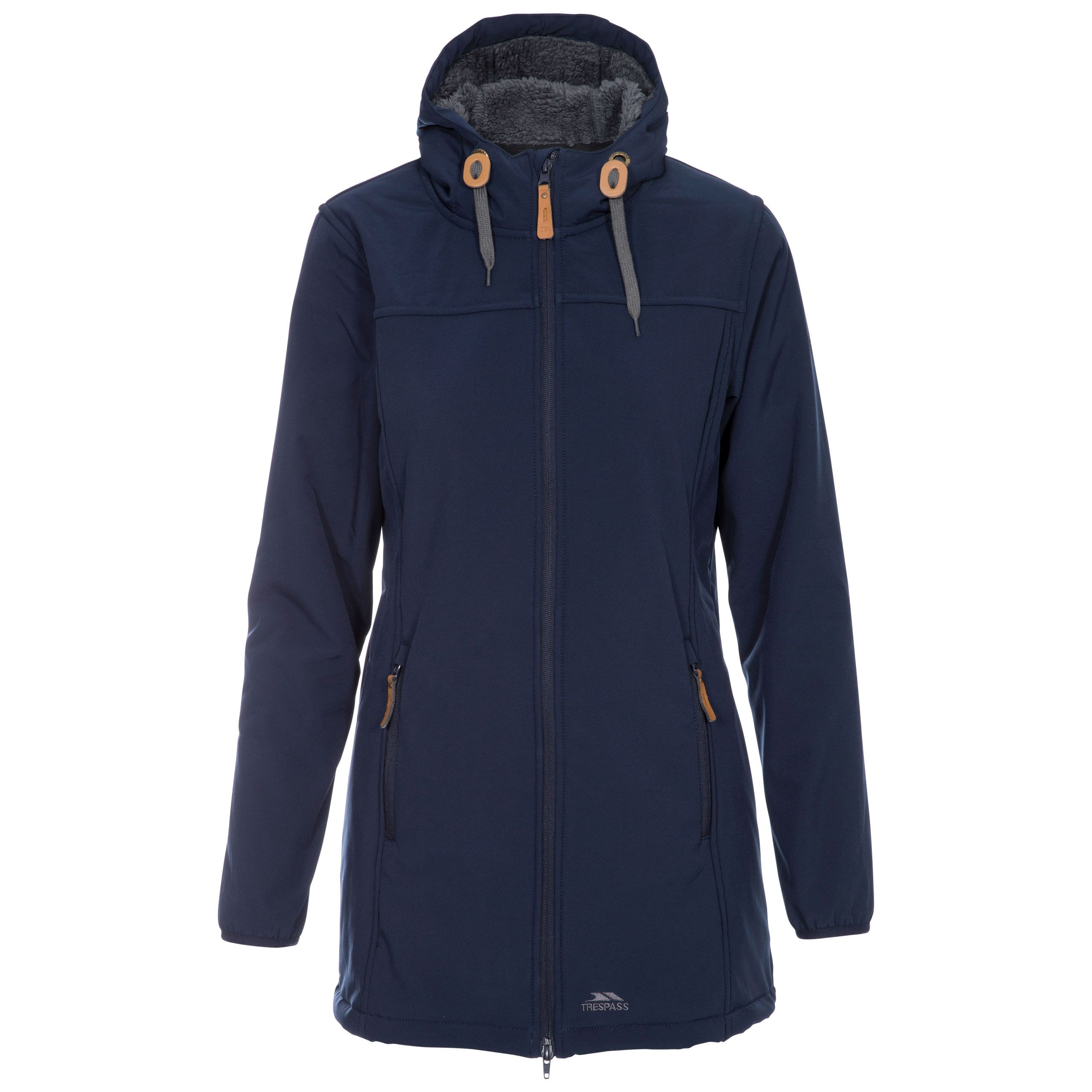 Trespass Womens Kristen Long Hooded Softshell Jacket