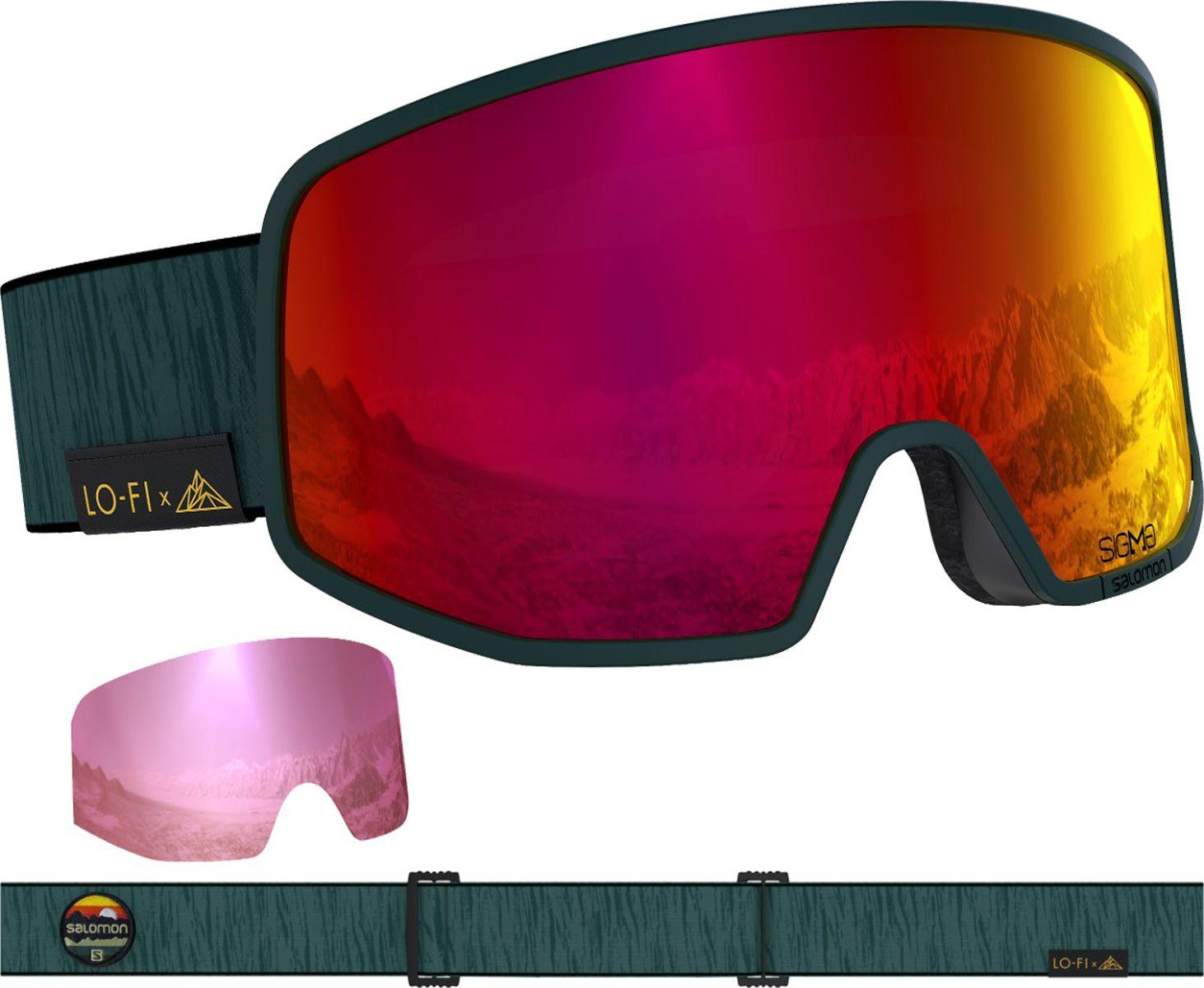 Salomon Mens Lo Fi Sigma Ski Goggles